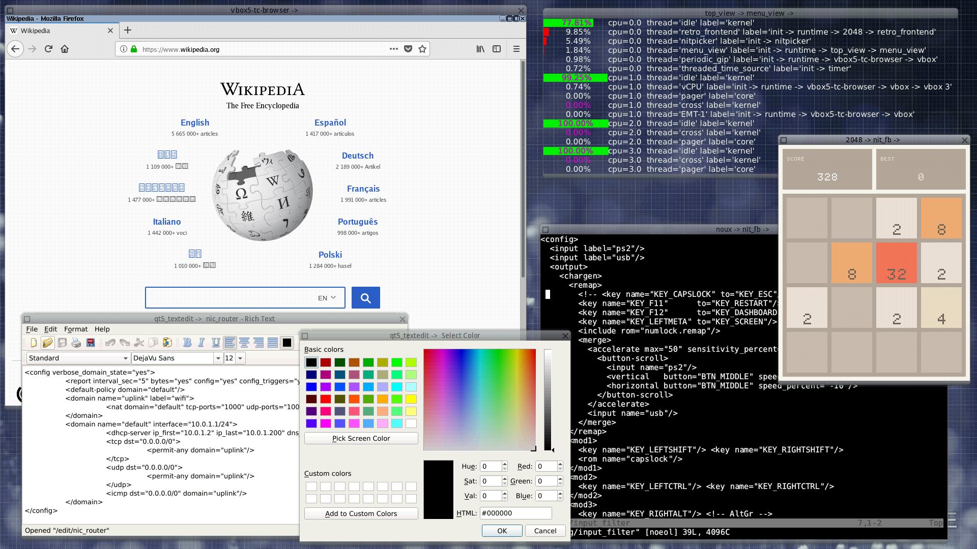 Genode - Screenshots